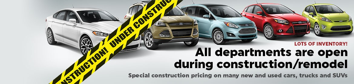 Westlie Ford is open during construction