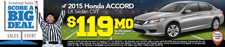 New 2015 Honda Accord Peoria AZ
