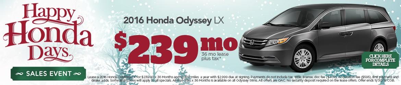 New 2016 Honda Odyssey Peoria AZ