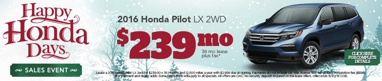 New 2016 Honda Pilot Peoria AZ
