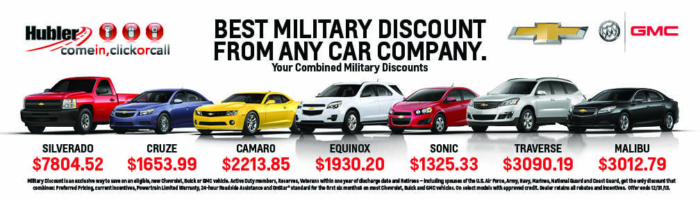 Hubler- the best military discount from any car company