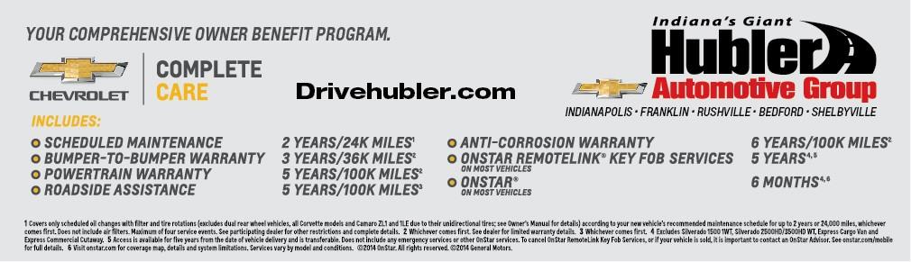 Your comprehensice Chevrolet owner benefit program
