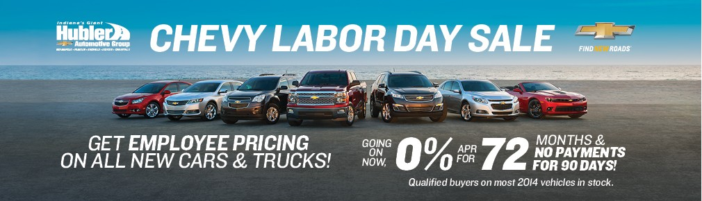 Hubler Chevy Labor Day Sale