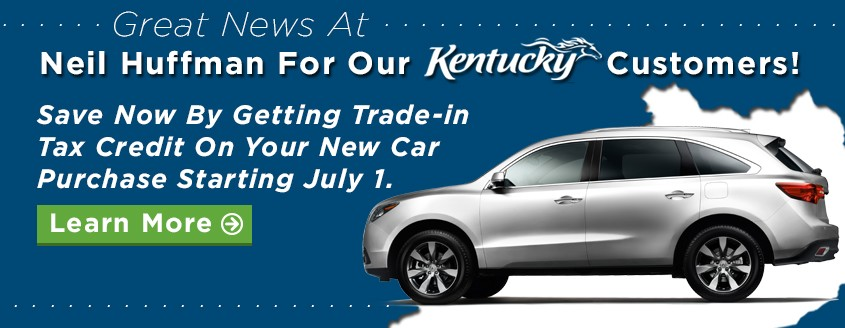 KY New Car Buyers Save on Tax Credit