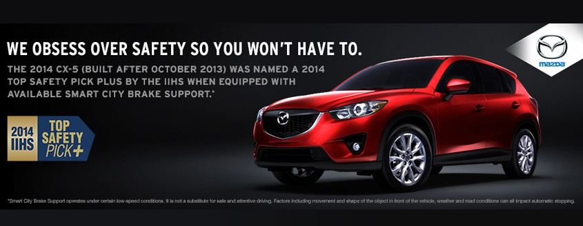 2014 CX-5 IIHS Top Safety Pick