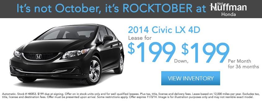 2014 Civic LX 4D