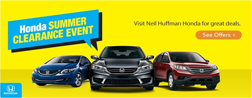 Honda Summer Clearance Event - Neil Huffman Honda