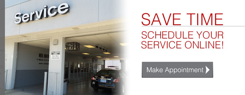 Save Time! Schedule Service Online