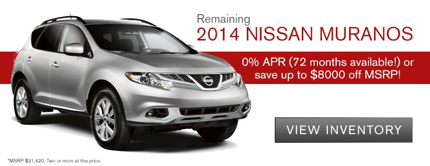 2014 Nissan Murano Up to $8000 off MSRP
