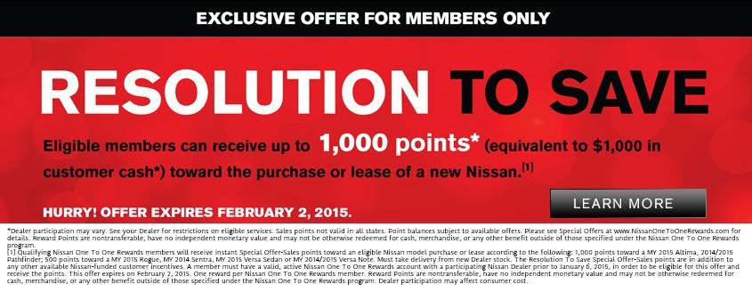 Neil Huffman Nissan Resolution to Save!