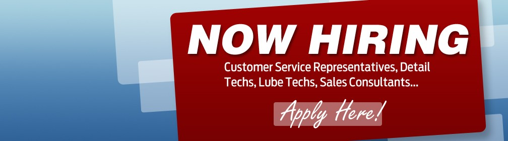 Now Hiring Customer Representatives