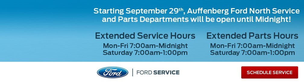 New Ford North Service Hours