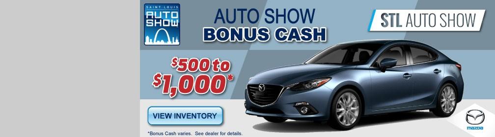 STL Auto Show Bonus Cash