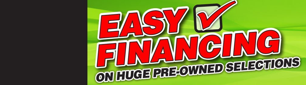 Easy Financing on Huge Pre-owned selections