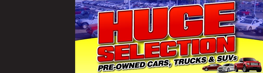 HUGE Selection on Pre-owned cars trucks and suv's