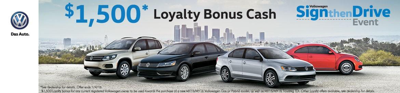 VW Loyalty Bonus Cash