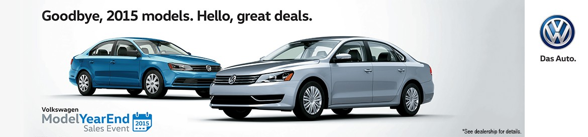 VW Model Year End Sales Event 2015