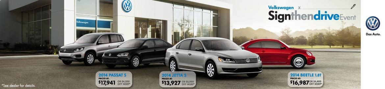 Volkswagen Sign Then Drive
