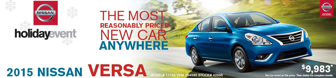 Nissan Holiday Event - Versa