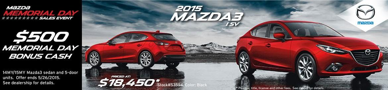Mazda Memorial Day Sales Event