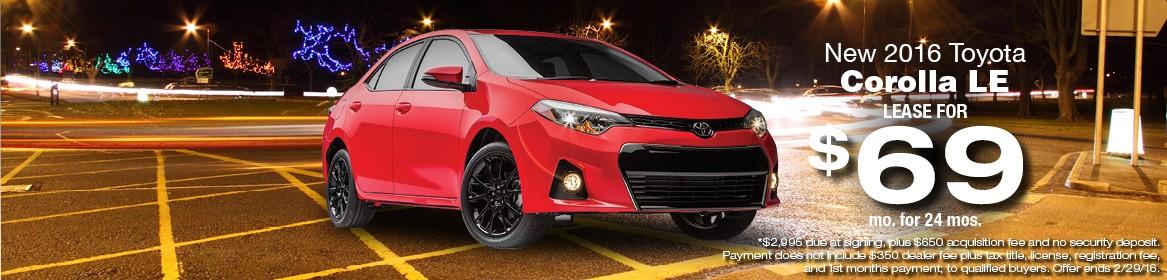 2016 Toyota Corolla LE Lease Deal