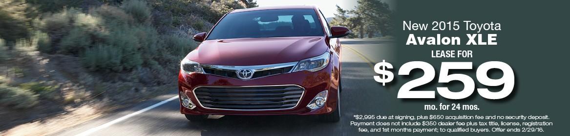 2016 Toyota Avalon XLE Lease Deal