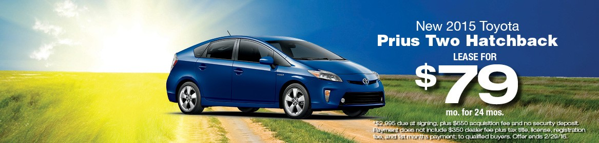 2015 Toyota Prius Two Lease Special