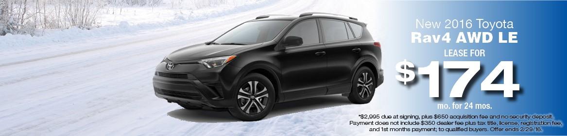 2016 Toyota RAV4 AWD LE Lease Deal