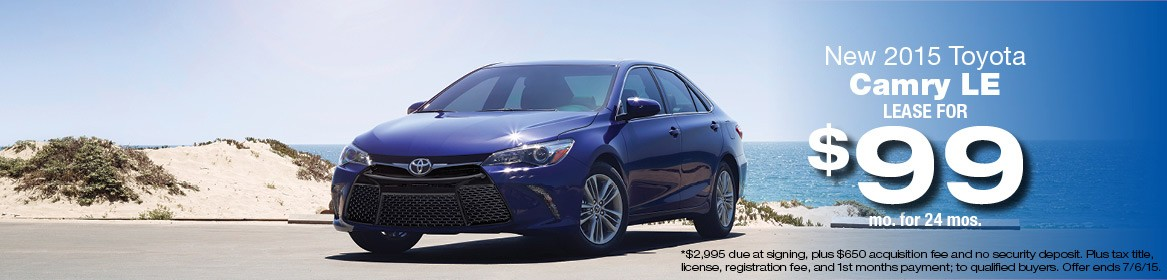 2015 Toyota Camry Lease Deals June
