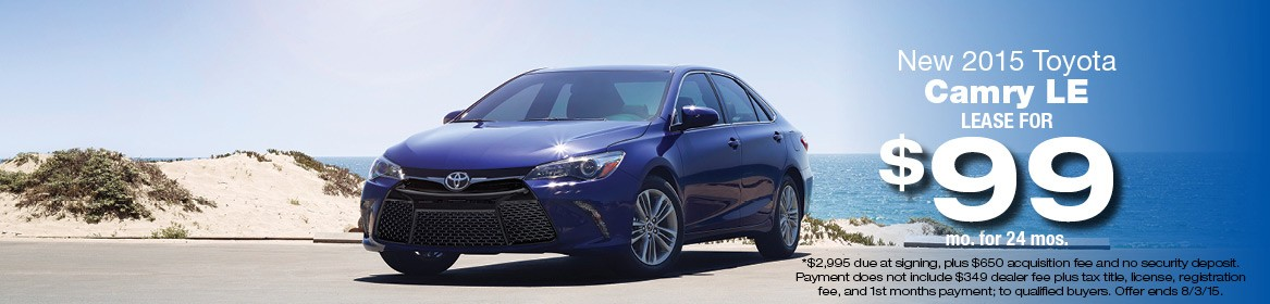 2015 Toyota Camry LE Lease Deal July