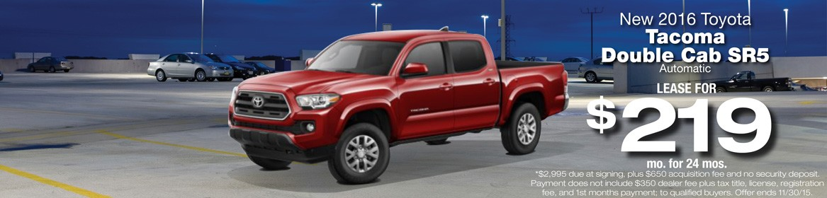 2016 Toyota Tacoma Double Cab SR5 Lease Deal