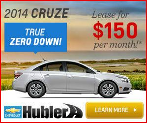 2014 Chevy Cruze Zero Down Lease