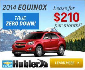 2014 Equinox Zero Down Lease