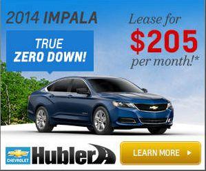 2014 Chevy Impala Zero Down Lease