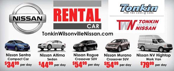Tonkin Wilsonville Nissan Rental Car