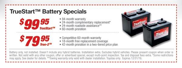 TrueStart Battery Specials