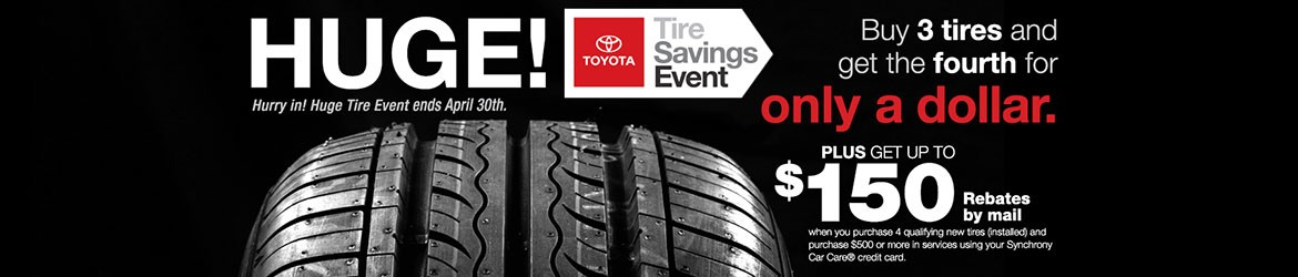 Tires: Buy 3, Get 4th for $1