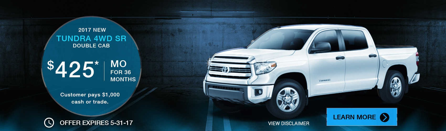 2017 Tundra 4WD Double Cab at $425* per month at Beaverton Toyota