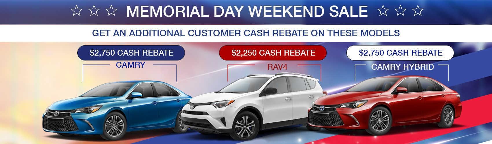 Memorial Day Weekend SALE At Beaverton Toyota