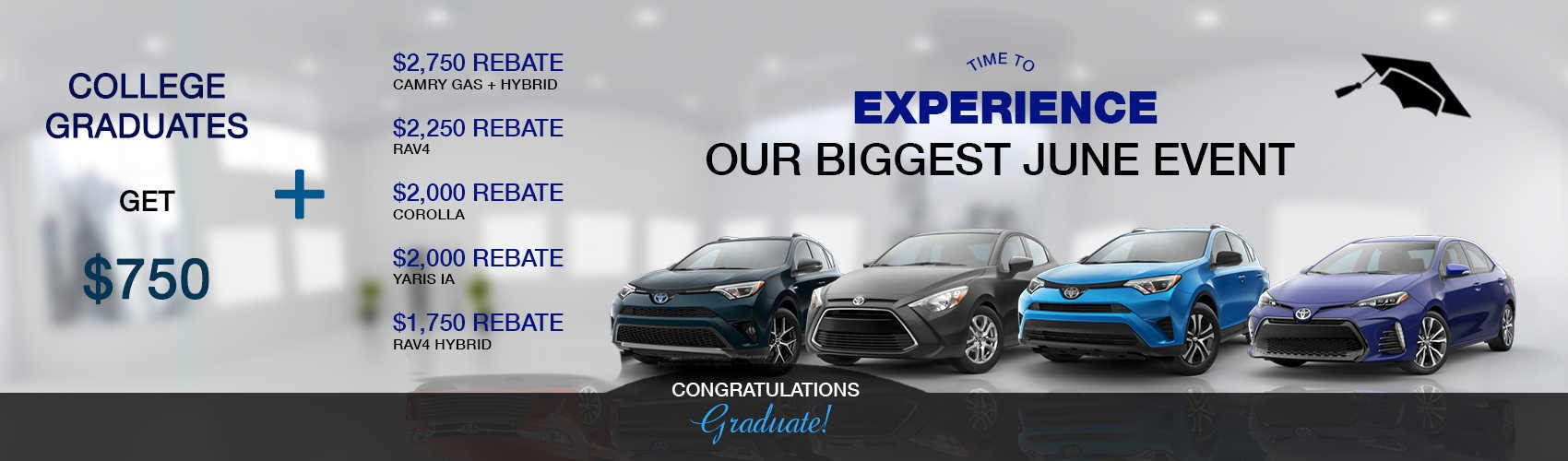 College Graduate Specials at Beaverton Toyota