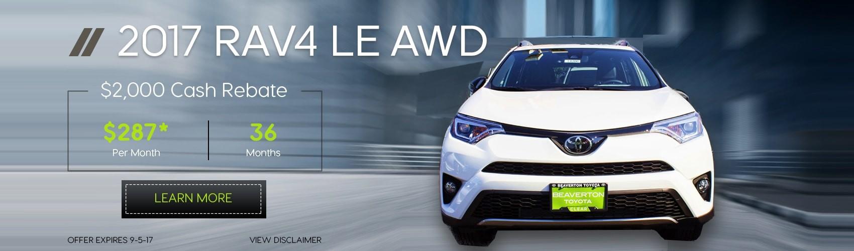 2017 RAV4 LE AWD