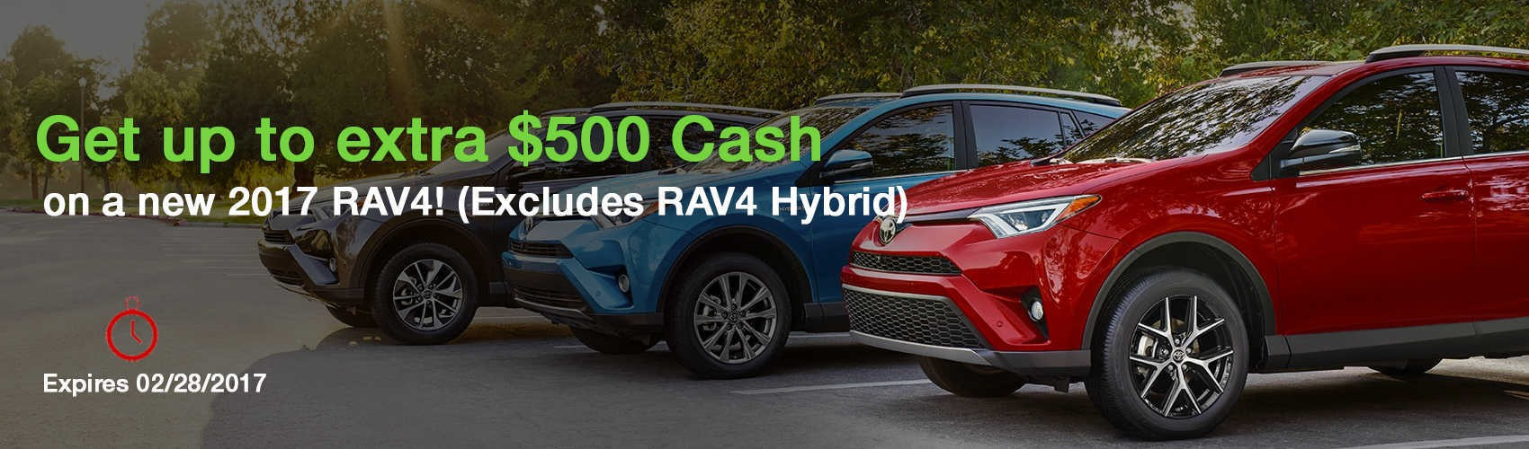 2017 RAV4 cars