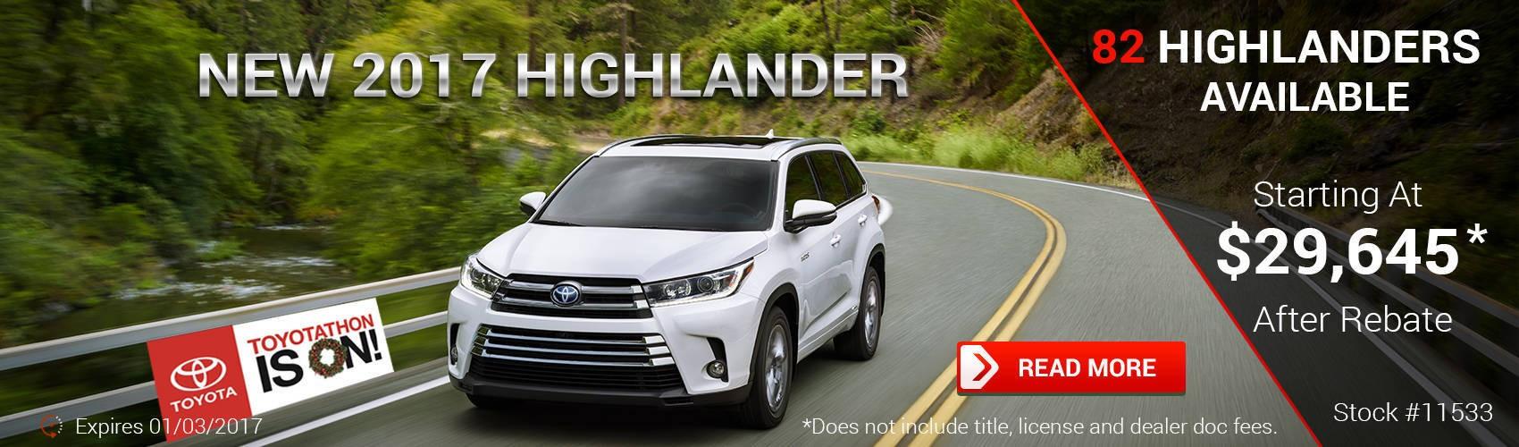Brand New 82 highlanders available at Beaverton Toyota