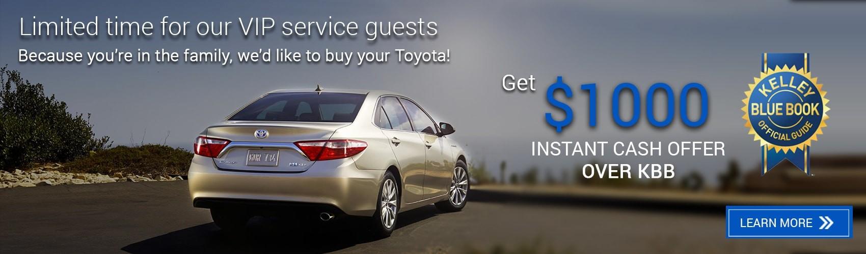 KBB Instant Cash Offer by Beaverton Toyota