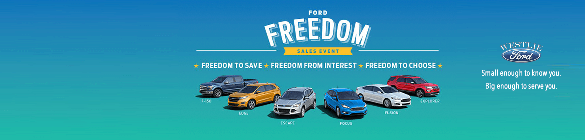 Ford Freedom Sales event at Westlie Ford Camas WA