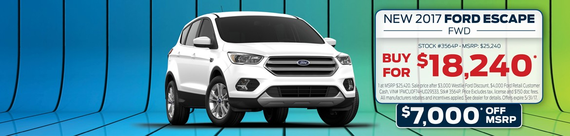 New 2017 Ford Escape For Sale In Washougal, WA