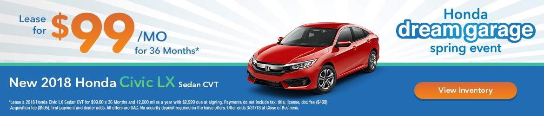 New 2018 Honda Civic Peoria AZ