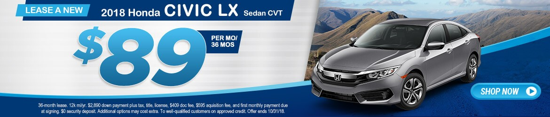 New 2018 Honda Civic LX Peoria AZ