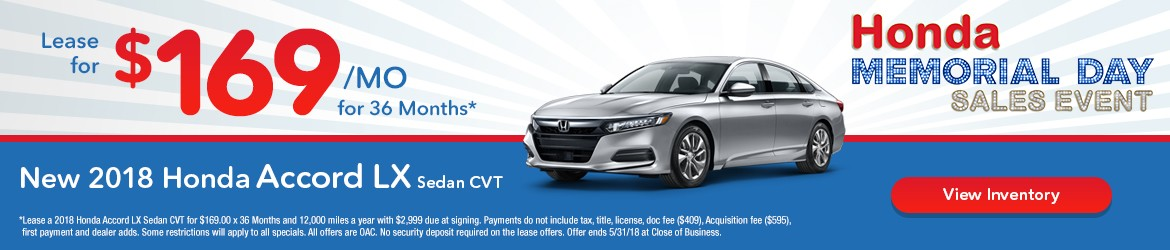 New 2018 Honda Accord Peoria AZ