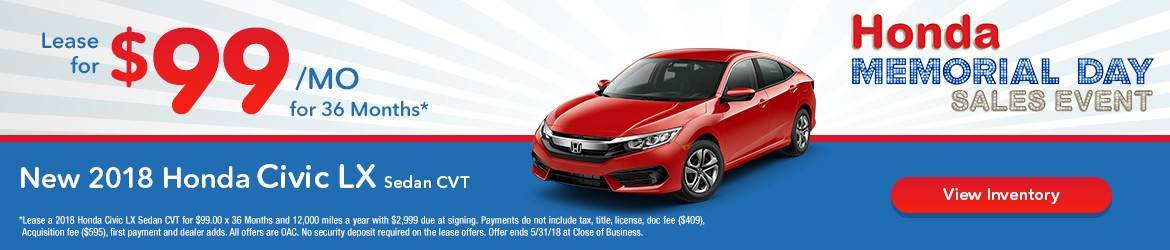 New 2018 Honda Civic Peoria AZ